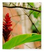 Red Flower I Fleece Blanket