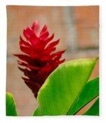Red Flower IIi Fleece Blanket