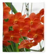 Red Flowers Fleece Blanket