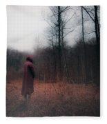 Red Forest Fleece Blanket