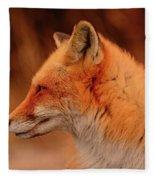 Red Fox 2 Fleece Blanket