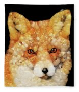 Red Fox Abstract Fleece Blanket