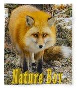 Red Fox Nature Boy Fleece Blanket
