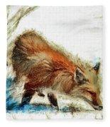Red Fox Painted Series Fleece Blanket