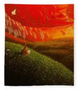 Red Fox..peaceful Fleece Blanket