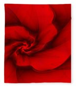 Red Fractal 080910 Fleece Blanket