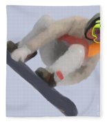 Red Gerard Snowboarding Gold Fleece Blanket