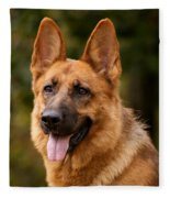 Red German Shepherd Dog Fleece Blanket