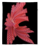 Red Glass Abstract Fleece Blanket