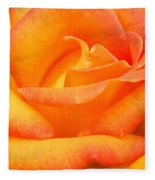 Red Gold Rose Fleece Blanket