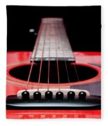 Red Guitar 16 Fleece Blanket