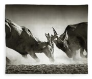 Red Hartebeest Dual In Dust Fleece Blanket