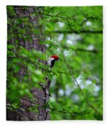 Red Headed Beauty Fleece Blanket