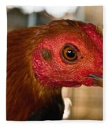 Red Headed Chicken Fleece Blanket