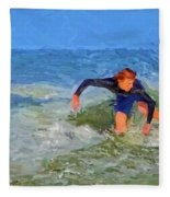 Red Headed Surfer Fleece Blanket