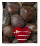 Red Heart Among Stones Fleece Blanket