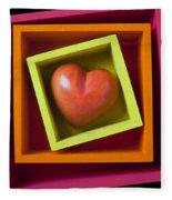 Red Heart In Box Fleece Blanket