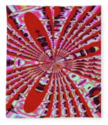Red Heavy Screen Abstract Fleece Blanket