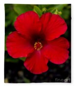 Red Hibiscus - Kauai Fleece Blanket