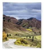 Red Hills Autumn Color Fleece Blanket