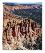 Red Hoodoos Of Bryce Canyon National Park Fleece Blanket