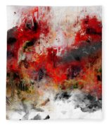 Red Hope  Fleece Blanket