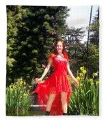 Red Hot - Ameynra Fashion By Sofia Metal Queen. Fleece Blanket