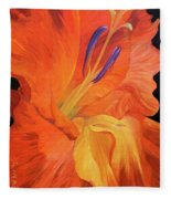 Red-hot Flower Fleece Blanket