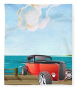 Red Hot Rod Fleece Blanket