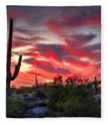 Red Hot Sonoran  Fleece Blanket