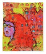 Red Hot Summer Girl Fleece Blanket