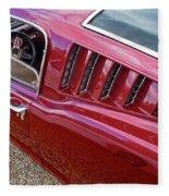 Red Hot Vents - Classic Fastback Mustang Fleece Blanket