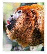 Red Howler Monkey Alpha Male Fleece Blanket