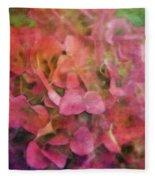 Red Hydrangea 2421 Idp_2 Fleece Blanket