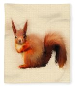 Red Squirrel Fleece Blanket
