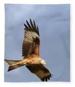 Red Kite Flying Fleece Blanket