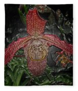 Red Lady Slipper Fleece Blanket