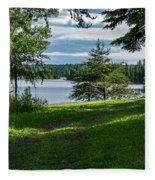 Red Lake Ontario 2 Fleece Blanket