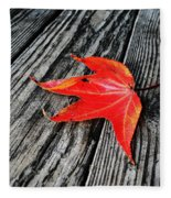 Red Leaf Fleece Blanket
