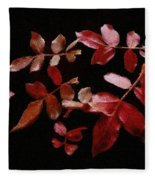 Red Leaves Fleece Blanket