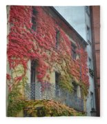 Red Leaves Of Fall Fleece Blanket