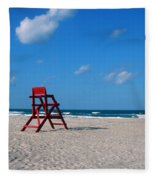 Red Life Guard Chair Fleece Blanket