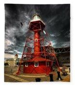 Red Lighthouse Fleece Blanket