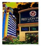 Red Lion Hotel In Spokane Fleece Blanket