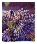 Red Lionfish Art Fleece Blanket