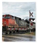 Red Locomotive Fleece Blanket