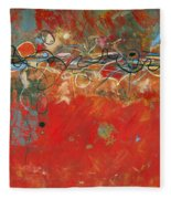 Red Meander Fleece Blanket