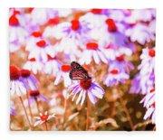Red Monarch Fleece Blanket