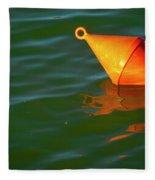 Red Mooring Buoy Fleece Blanket