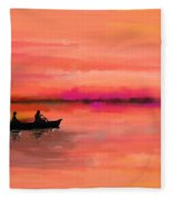 Red Morning Spin Fleece Blanket
